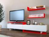 Decorotika Ayaz Tv Ünitesi Beyaz - Kırmızı