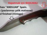 BIÇAK Vintage Hunting KNIFE (Antika AV BIÇAĞI)