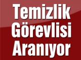 TEMİZLİK ELEMANI ARANIYOR