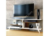 Fever Tv Sehpası / Beyaz - Ceviz